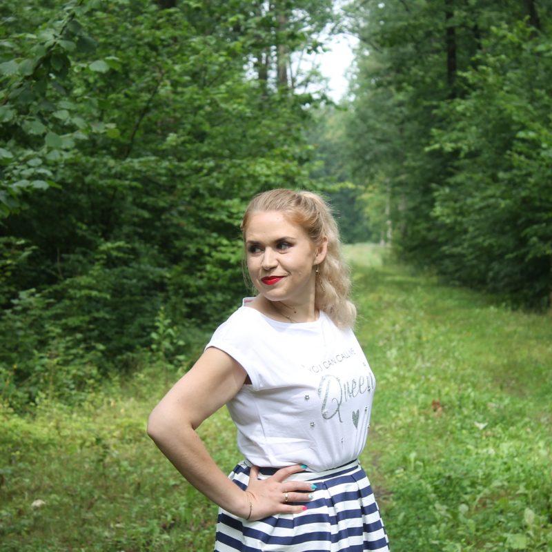 #ałtfitnaniedzielę: spódnica w paski